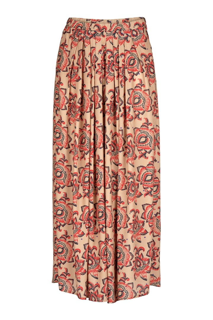 by-bar lien lotus skirt - nude