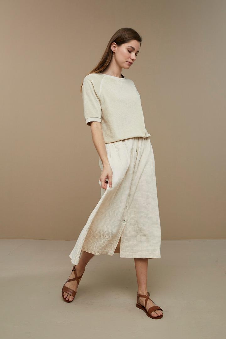 by-bar nine skirt - sand