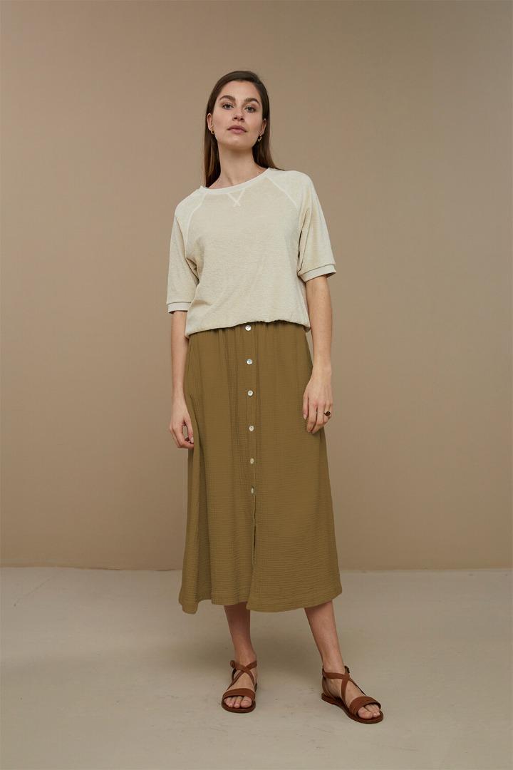 by-bar nine skirt - dry khaki