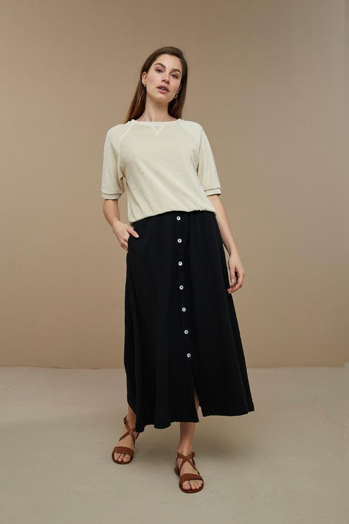 by-bar nine skirt - black