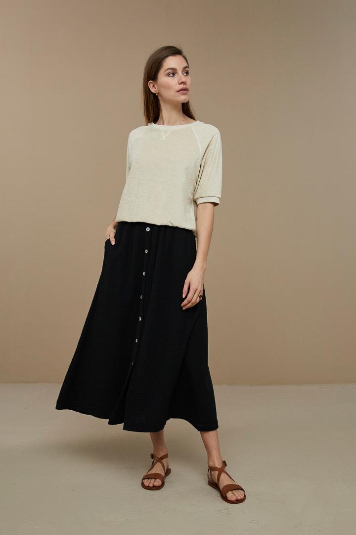 by-bar nine skirt - black 2