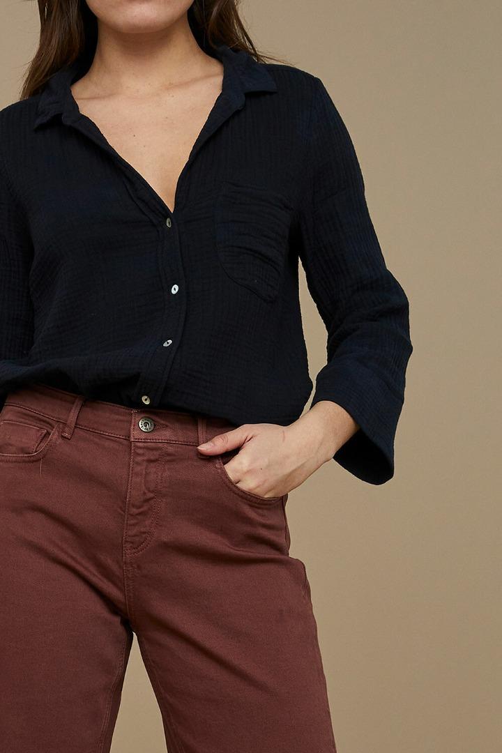 by-bar - zoe doppia blouse midnight