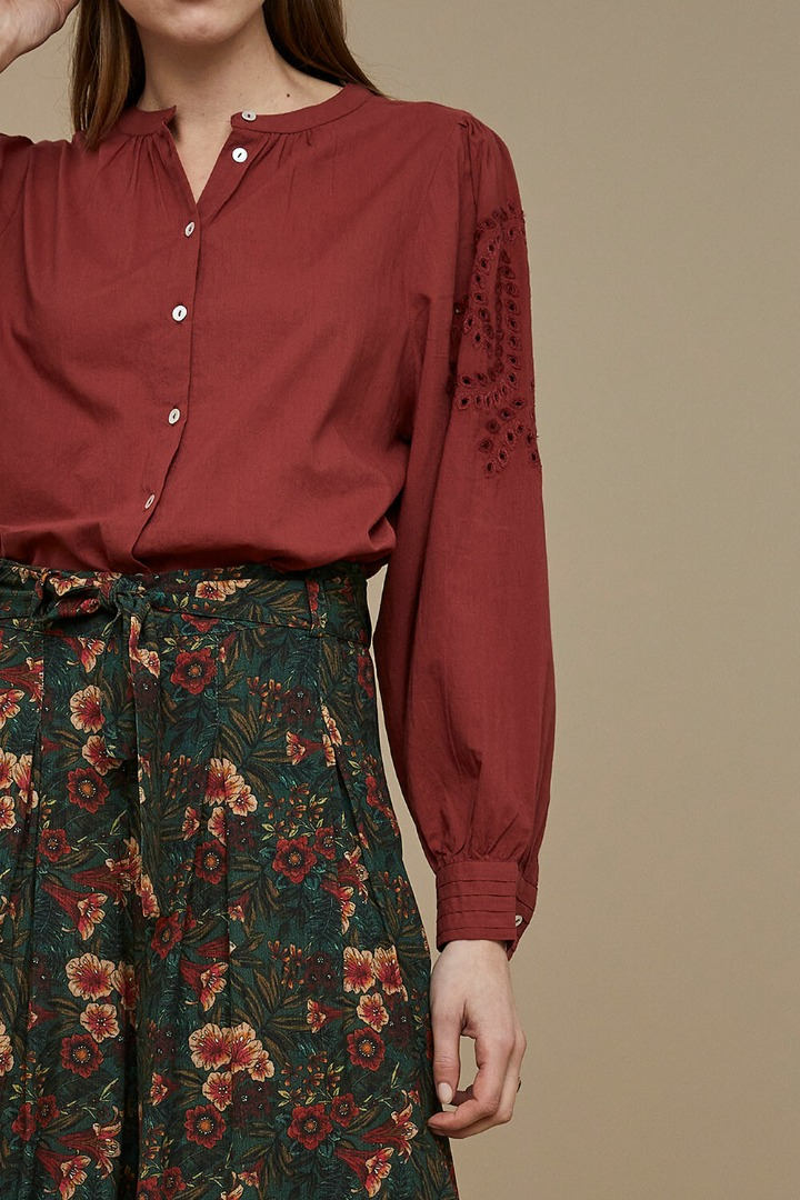 by-bar - ivy blouse - sienna