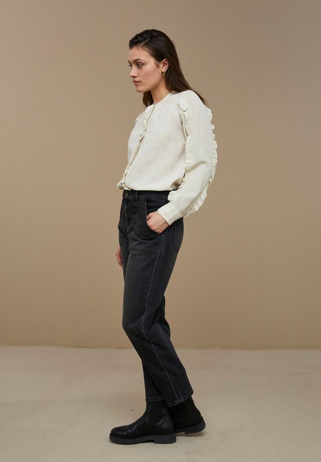 by-bar - roan slub blouse -