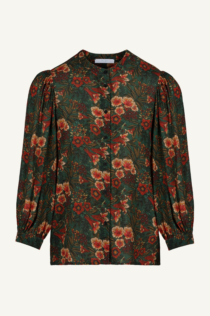 by-bar rikki tropic blouse tropic print