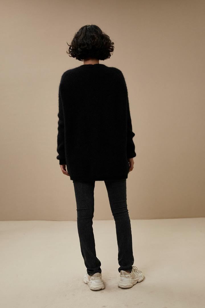 by-bar - abby cardigan - black