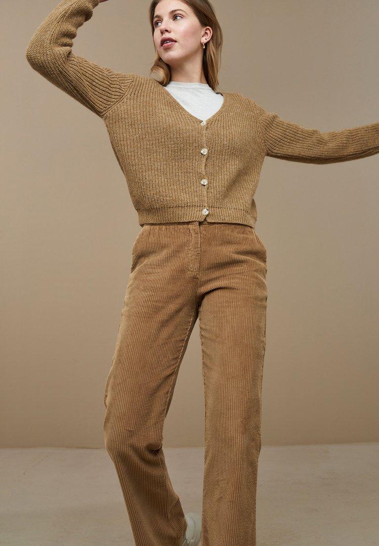 by-bar quinty cotton cardigan dry khaki