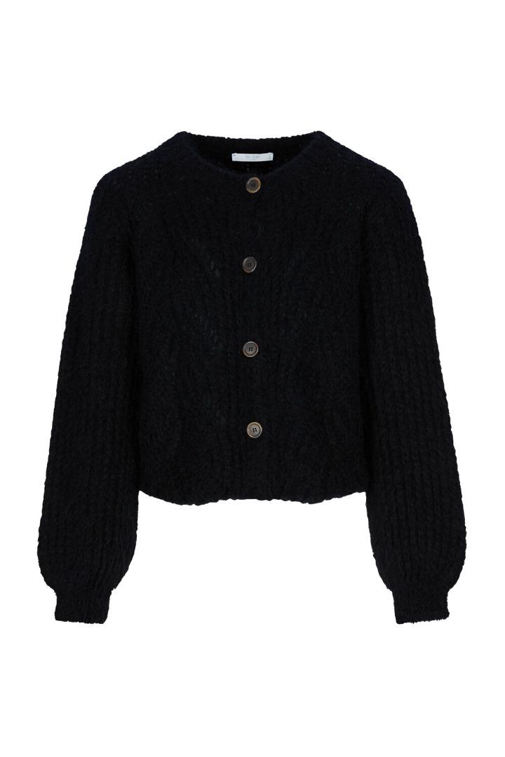 by-bar - julie cardigan - black
