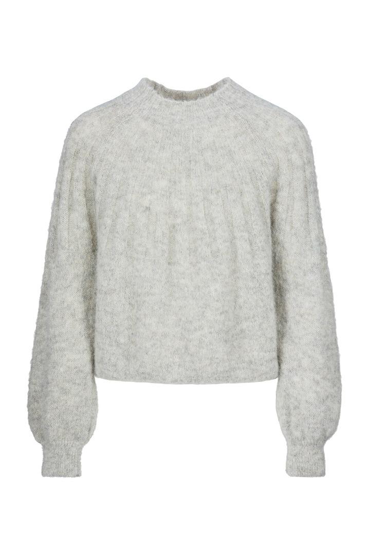 by-bar - zoe pullover - grey