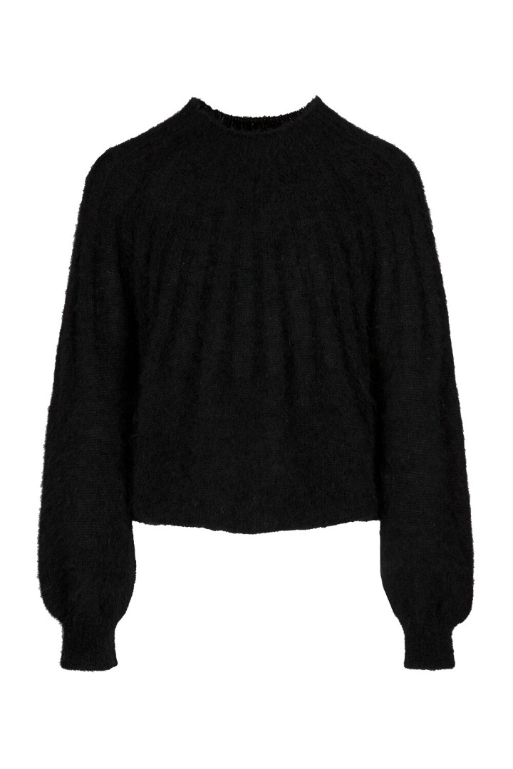 by-bar - zoe pullover - black
