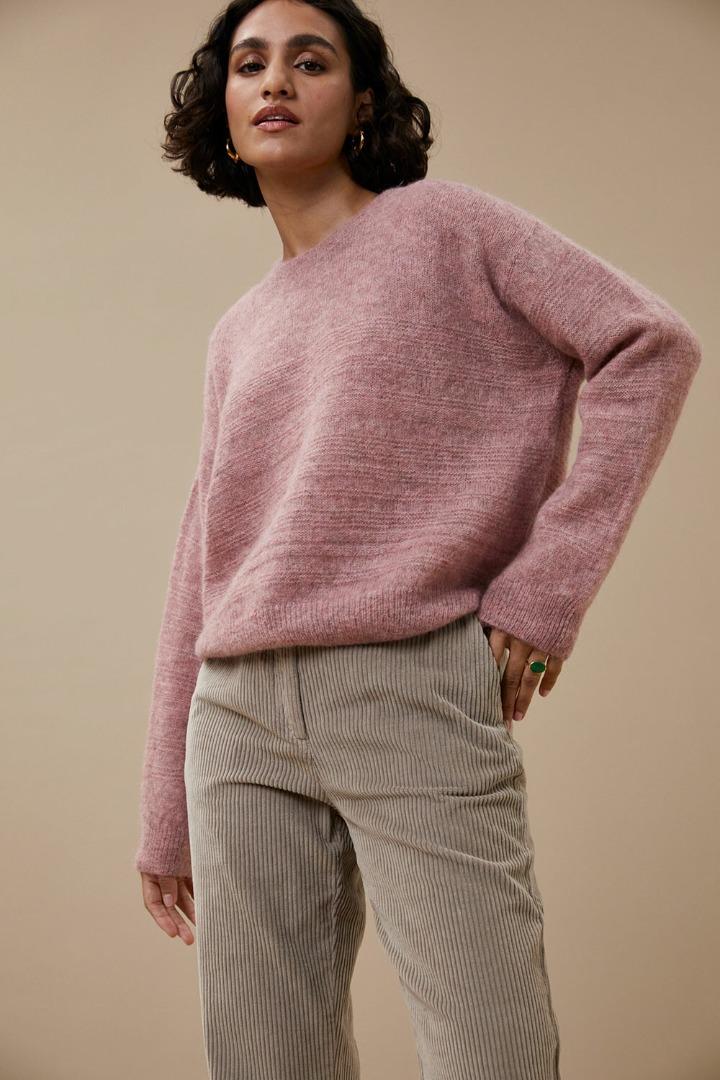 by-bar liz piura pullover dusty lilac