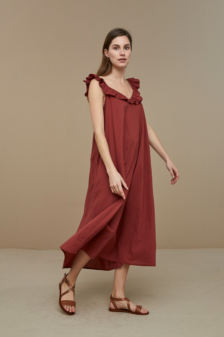 by-bar flore dress - sienna