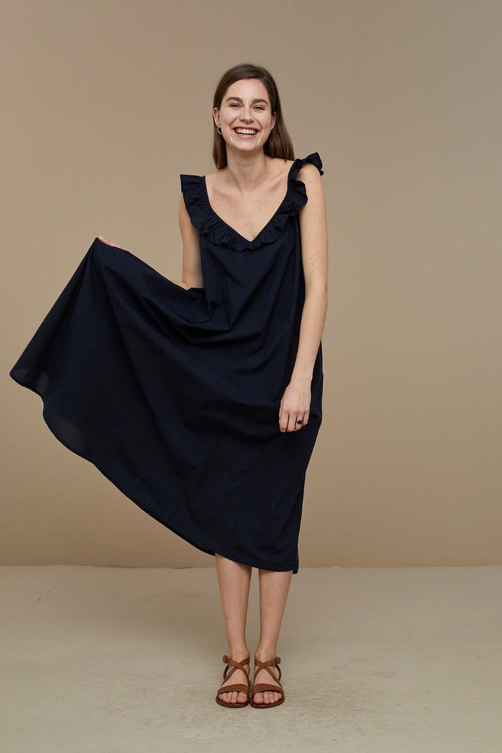 by-bar flore dress - midnight
