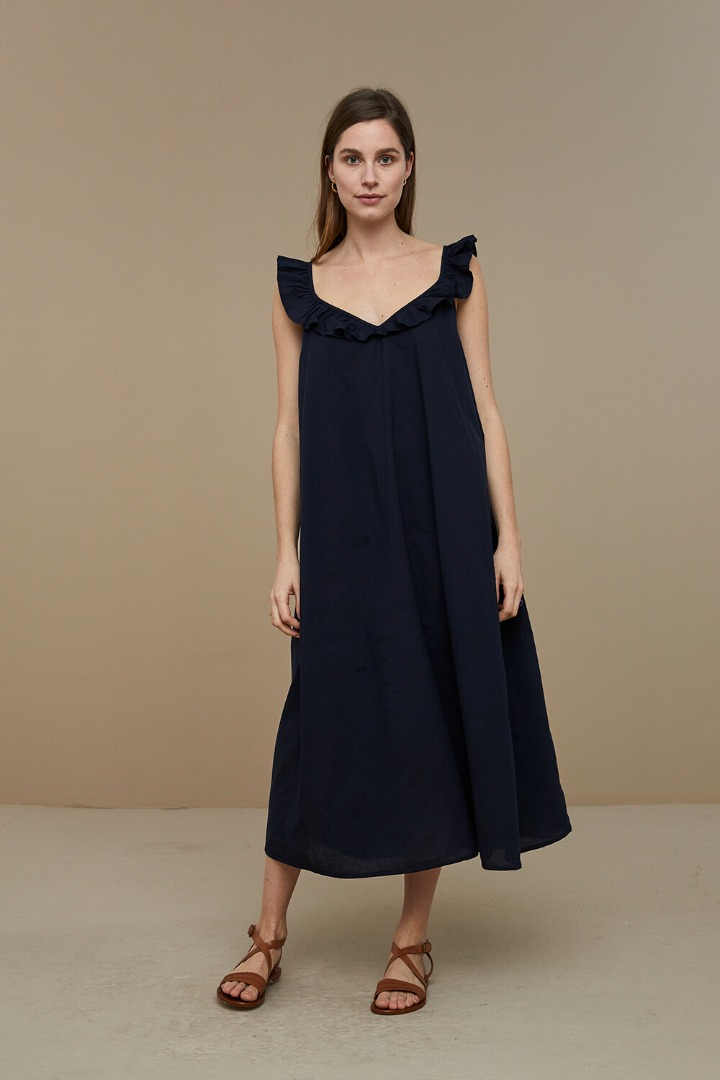 by-bar flore dress - midnight 2