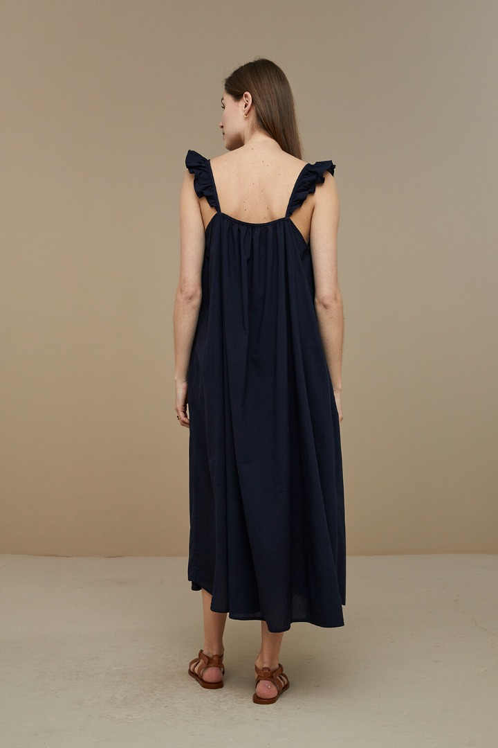 by-bar flore dress - midnight 4
