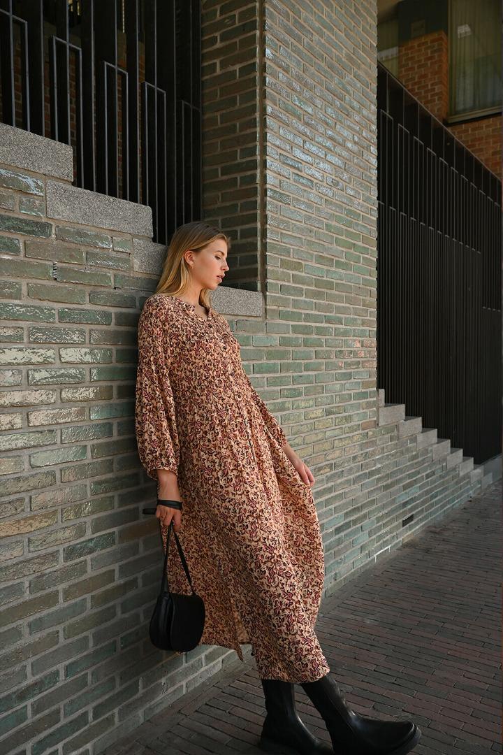 by-bar loulou block dress block print
