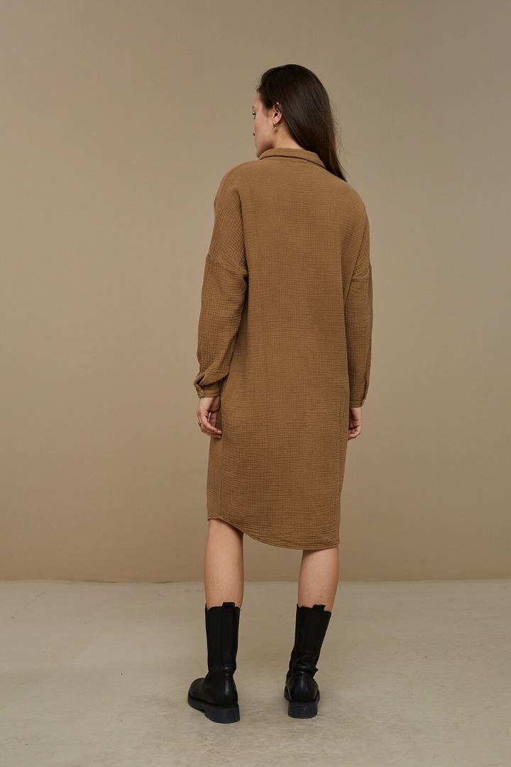 by-bar doppia dress - dry khaki