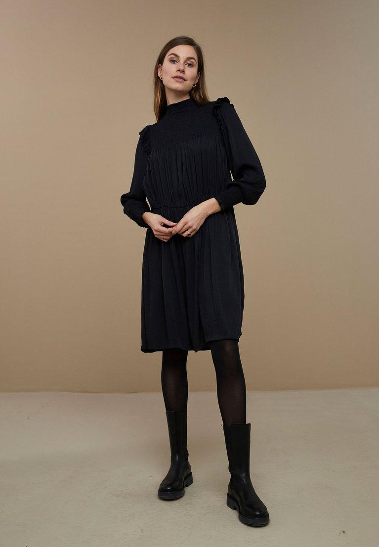 by-bar marcia twill dress jet black
