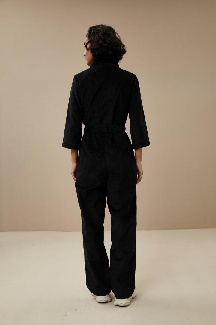 by-bar louise cord suit jet black