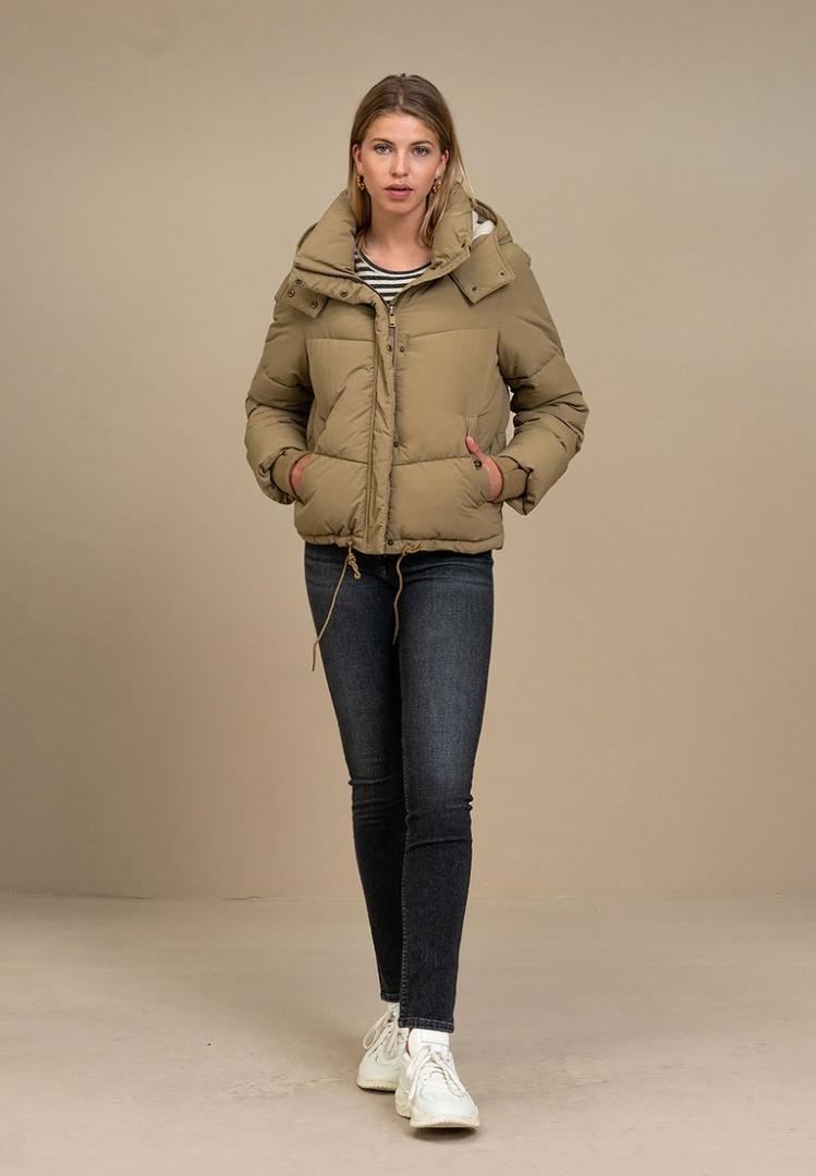 by-bar woody short coat dry khaki
