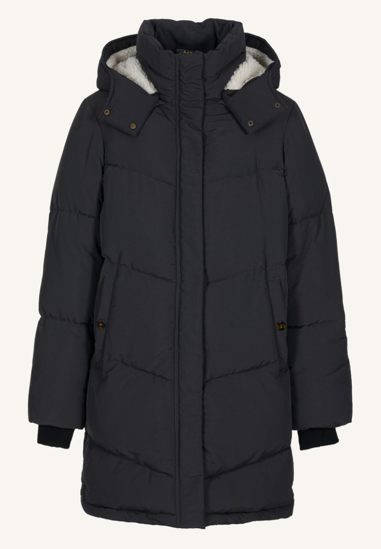 by-bar woody long coat jet black