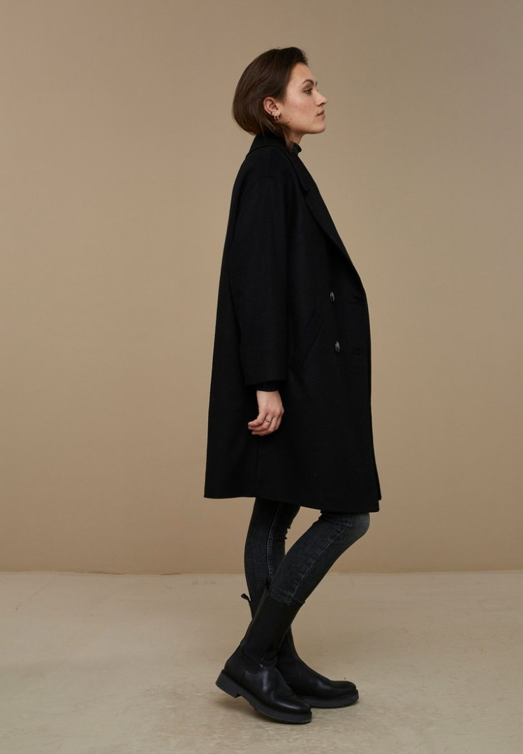 by-bar - florence coat - black
