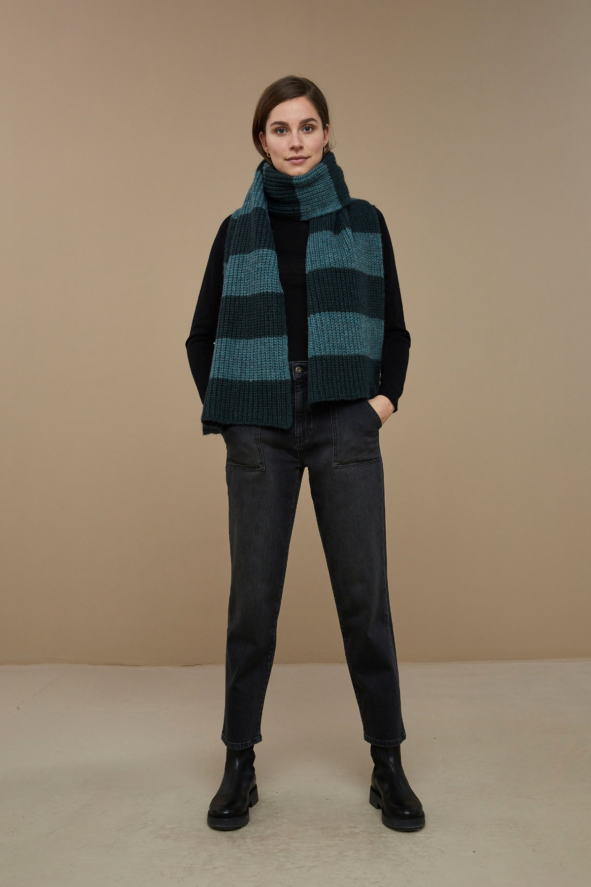 by-bar sofie susi scarf vintage green
