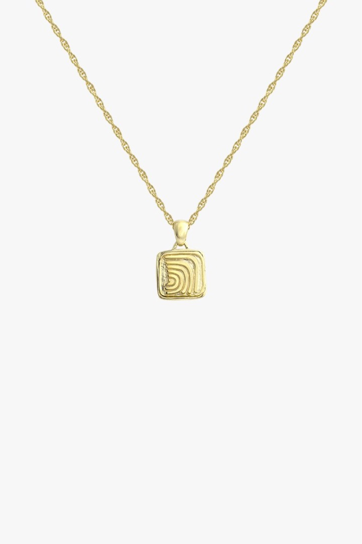 Waves pendant gold 4