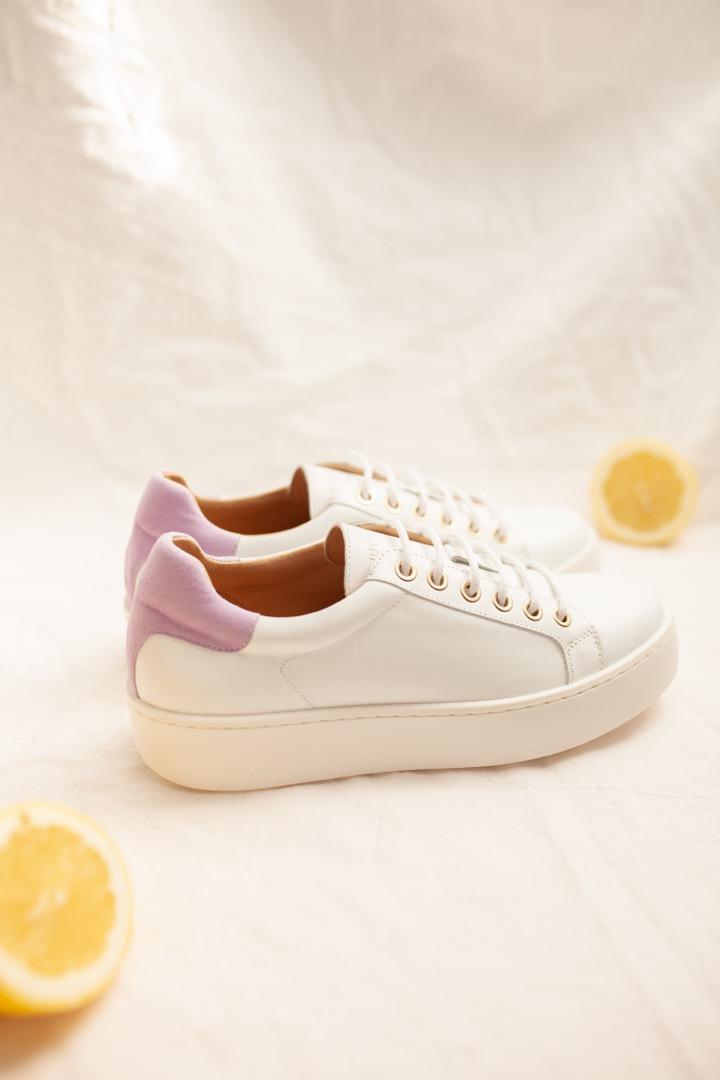 TENNIS SNEAKER - white/lilac 3
