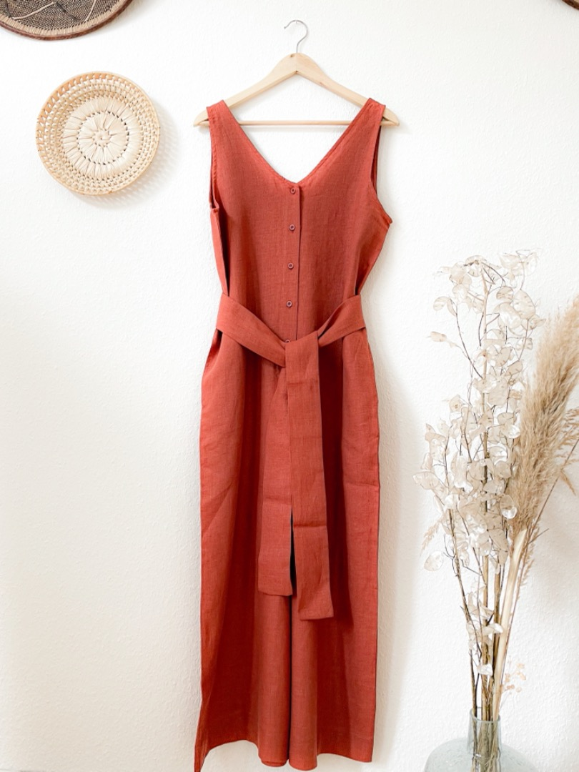 BEAUMONT ORGANIC - GIANNA-CLAY JUMPSUIT