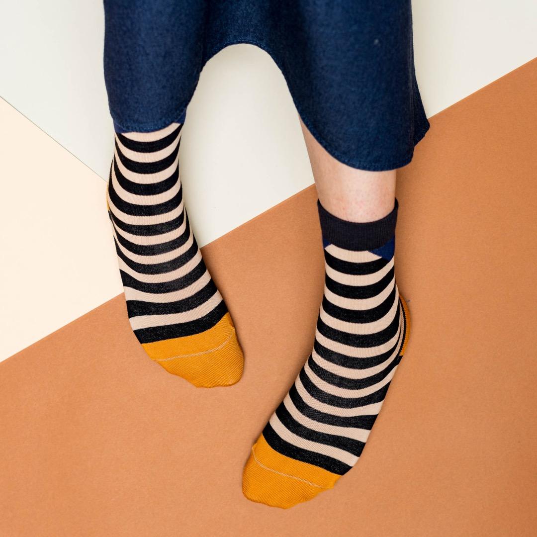 nice socks - block stripes sand - 3