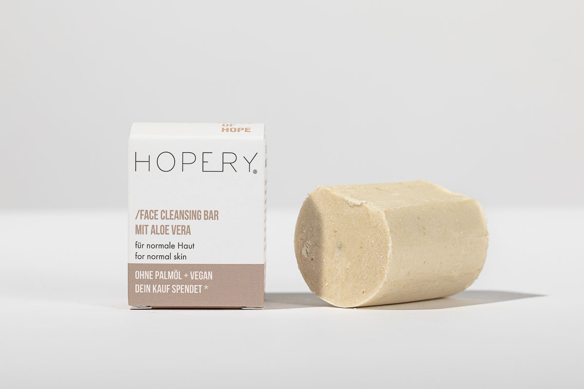 Hopery Face Cleansing Bar mit Aloe