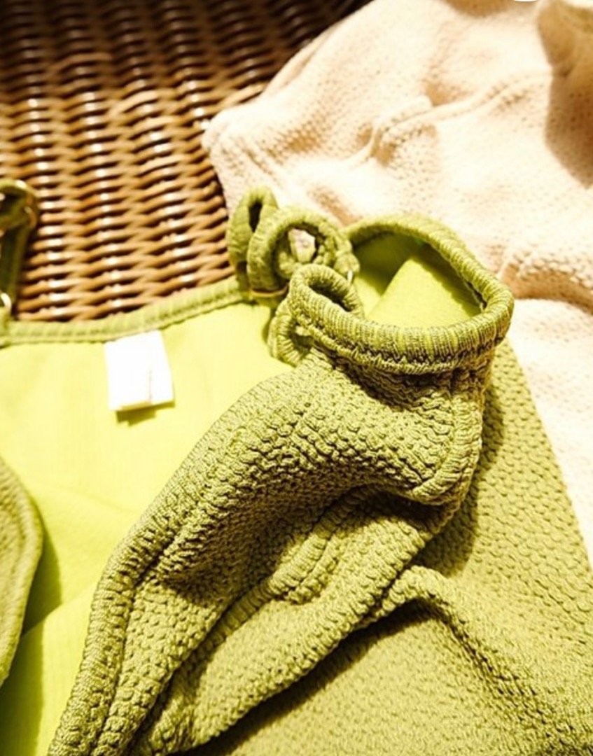 Colette textured swimsuit in olive 2