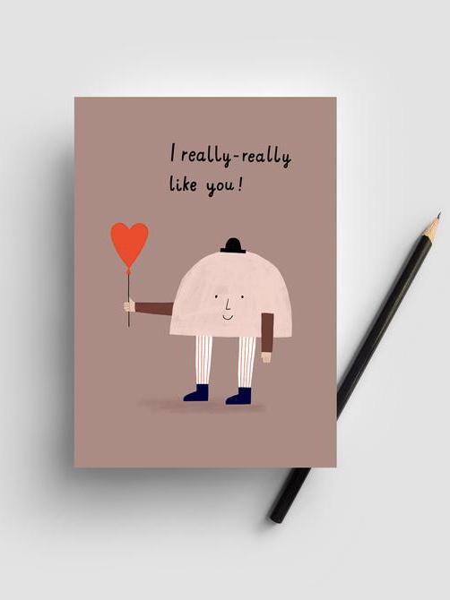 Postkarte - I like you