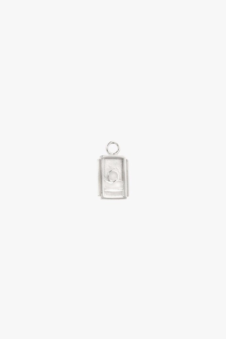 Sunset charm earring silver