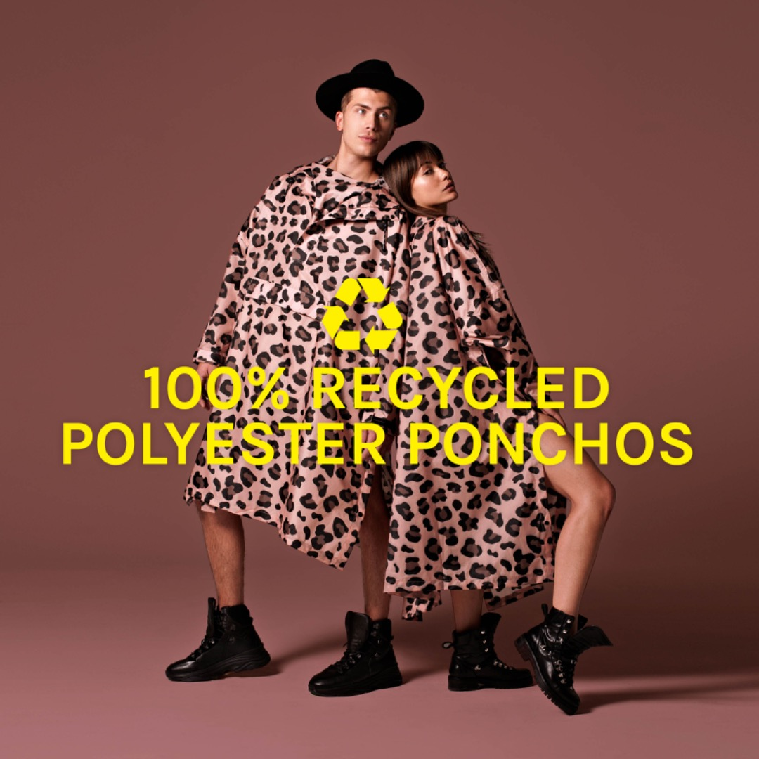 Rainkiss - Rain Poncho - Pink