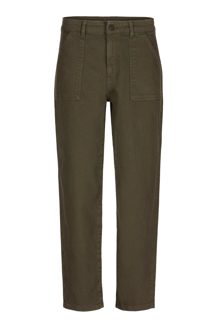 smiley twill pant - forest night