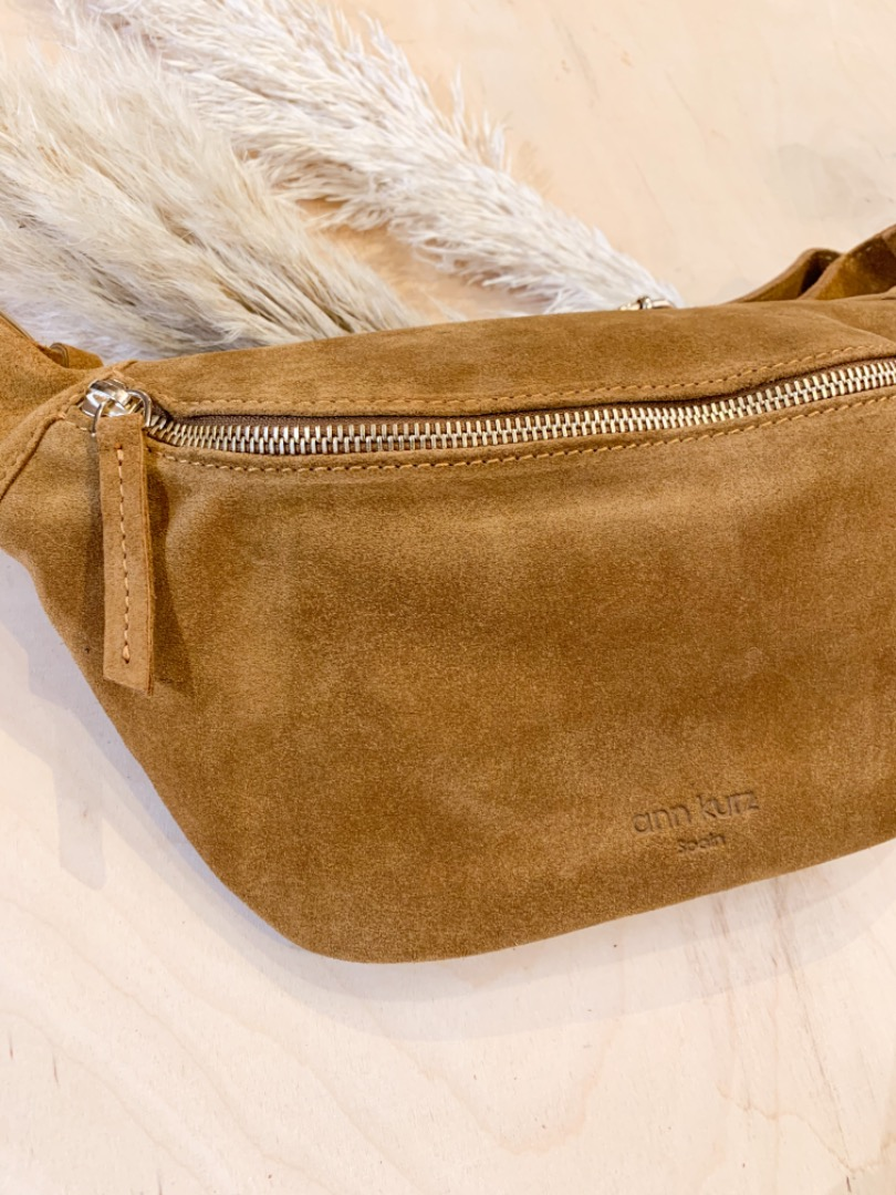Fanny Suede Pearl Wood Bauchtasche 2