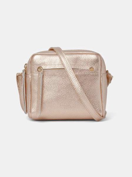 Cubo Mini Shoulder Bag Metallic Rosé