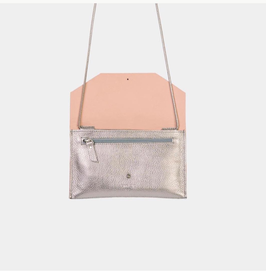 Mia Envelope - Metallic Silver 3