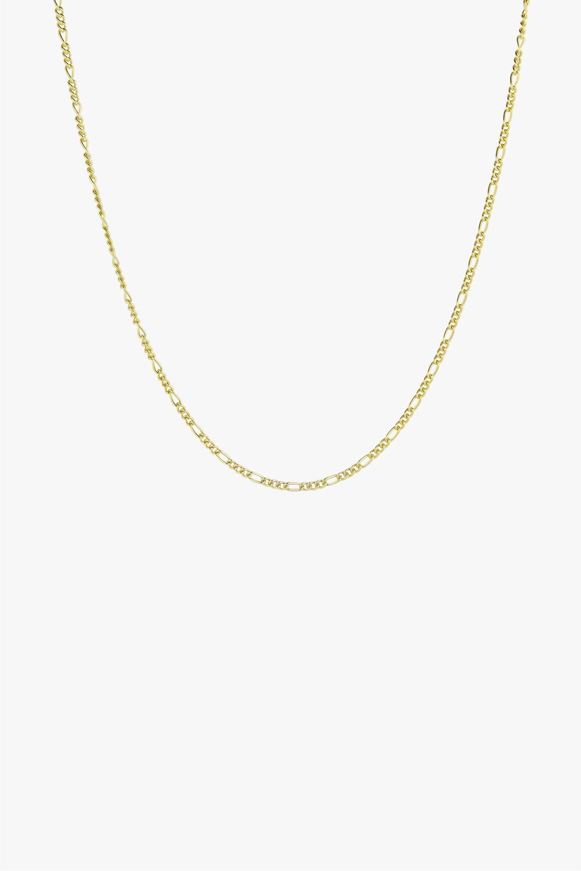 Long figaro chain gold 50cm