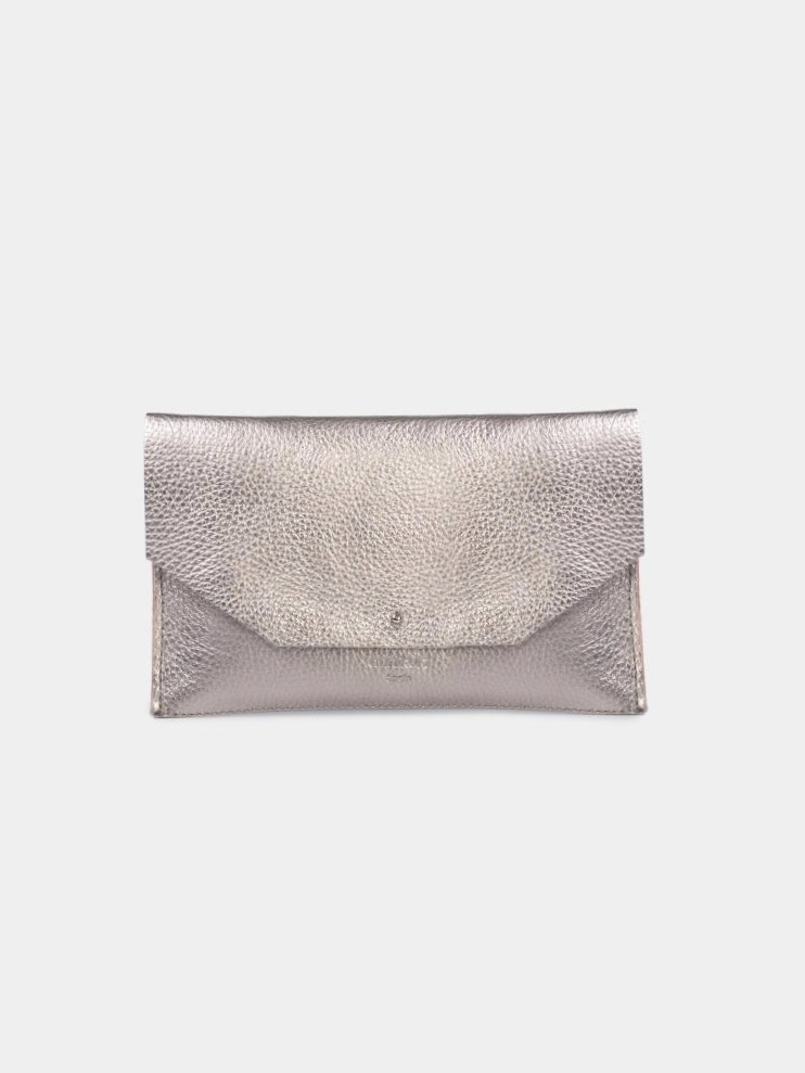 Mia Envelope - Metallic Silver 3