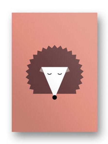 Postkarte Igel
