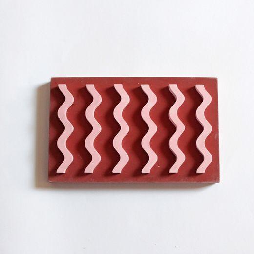 Seifenablage 2 Farben - Rot/Rosa