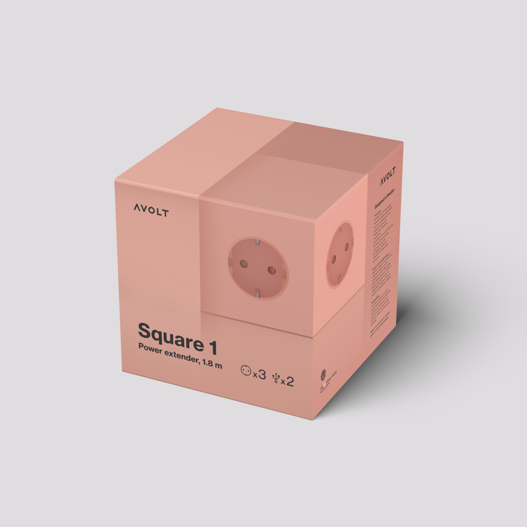 Power Extender Square Old Pink