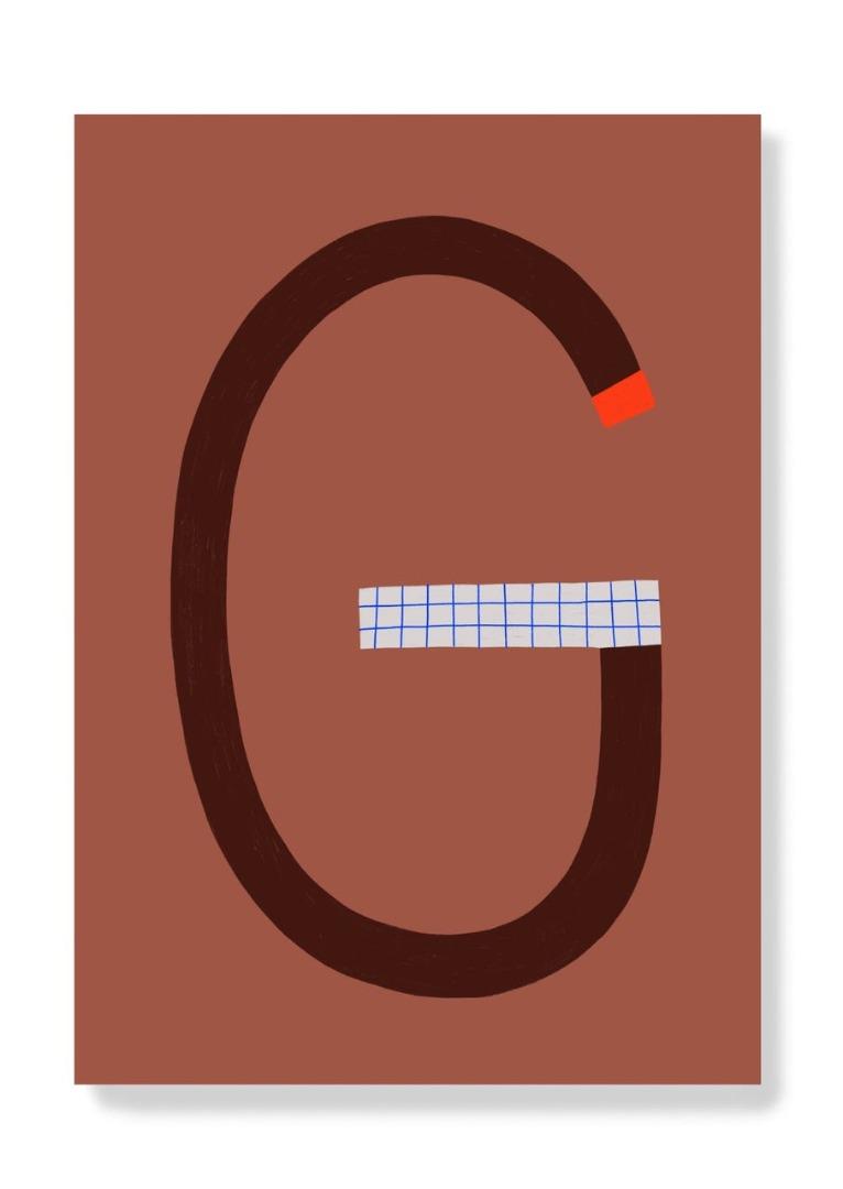 Postkarte - G