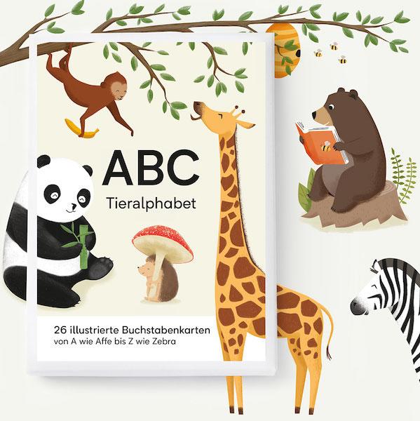 vierundfünfzig illustration - ABC KARTENSET -