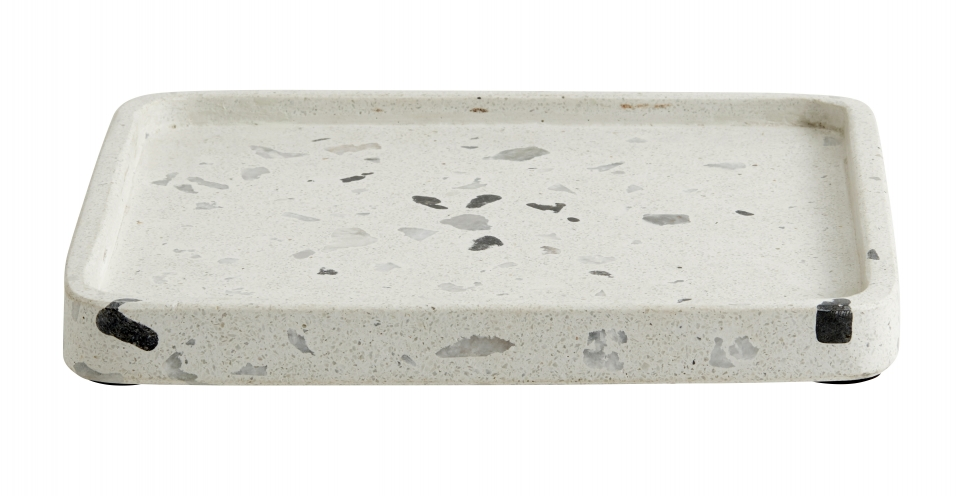 NORDAL Terrazzo tray beige large chips