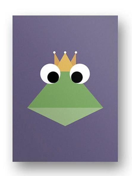 Postkarte Froschkönig