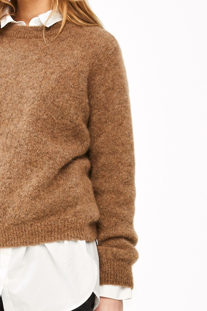 lana organic pullover - camel 7